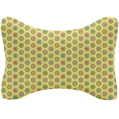 Hexagonal Pattern Unidirectional Yellow Seat Head Rest Cushion