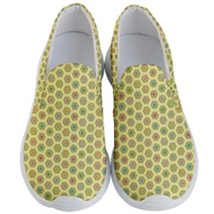Hexagonal Pattern Unidirectional Yellow Men s Lightweight Slip Ons by HermanTelo