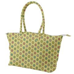 Hexagonal Pattern Unidirectional Yellow Canvas Shoulder Bag by HermanTelo