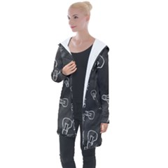Many Lamps Background Longline Hooded Cardigan