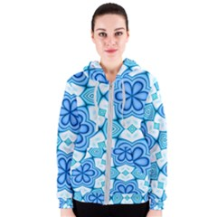 Pattern Abstract Wallpaper Women s Zipper Hoodie by HermanTelo