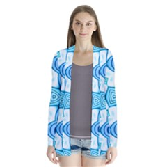 Pattern Abstract Wallpaper Drape Collar Cardigan by HermanTelo