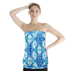 Pattern Abstract Wallpaper Strapless Top