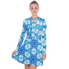 Pattern Abstract Wallpaper Long Sleeve Panel Dress by HermanTelo
