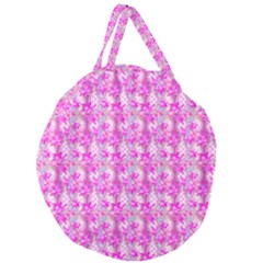 Maple Leaf Plant Seamless Pattern Giant Round Zipper Tote