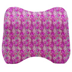 Maple Leaf Plant Seamless Pattern Velour Head Support Cushion