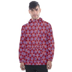 Pattern New Seamless Men s Front Pocket Pullover Windbreaker by HermanTelo