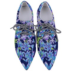Preppy Floral Pattern Pointed Oxford Shoes by tarastyle