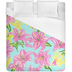 Preppy Floral Pattern Duvet Cover (california King Size) by tarastyle