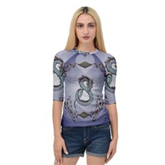 Wonderful Decorative Chinese Dragon Quarter Sleeve Raglan Tee by FantasyWorld7