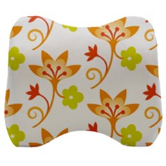 Pattern Floral Spring Map Gift Velour Head Support Cushion