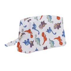 Pattern Dinosaurs Wristlet Pouch Bag (medium) by HermanTelo