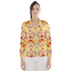 Pattern Bird Flower Women s Windbreaker