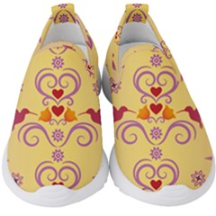 Pattern Bird Flower Kids  Slip On Sneakers by HermanTelo