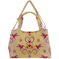 Pattern Bird Flower Double Compartment Shoulder Bag by HermanTelo