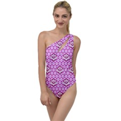 Paulownia Flowers Japanese Style To One Side Swimsuit