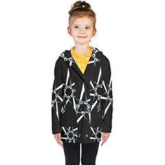 Star Sky Design Decor Kids  Double Breasted Button Coat