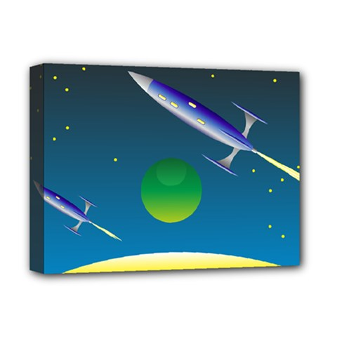 Rocket Spaceship Space Deluxe Canvas 16  X 12  (stretched)