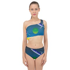 Rocket Spaceship Space Spliced Up Two Piece Swimsuit