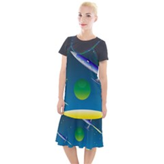Rocket Spaceship Space Camis Fishtail Dress by HermanTelo