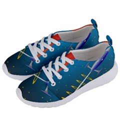 Rocket Spaceship Space Galaxy Women s Lightweight Sports Shoes by HermanTelo