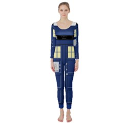 Tardis Doctor Who Time Travel Long Sleeve Catsuit