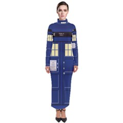 Tardis Doctor Who Time Travel Turtleneck Maxi Dress