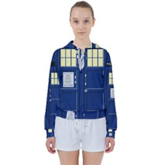 Tardis Doctor Who Time Travel Women s Tie Up Sweat