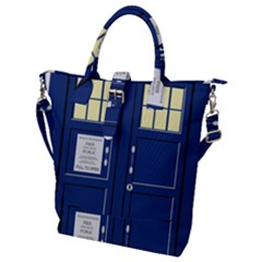 Tardis Doctor Who Time Travel Buckle Top Tote Bag