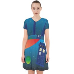 Tardis Doctor Time Travel Adorable In Chiffon Dress