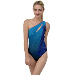 Tardis Doctor Time Travel To One Side Swimsuit