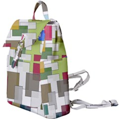Wallpaper Texture Plaid Buckle Everyday Backpack
