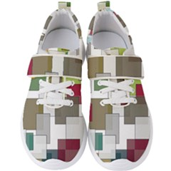 Wallpaper Texture Plaid Men s Velcro Strap Shoes by HermanTelo