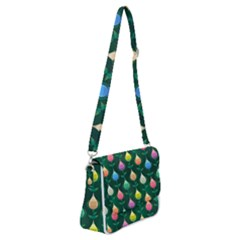 Tulips Seamless Pattern Background Shoulder Bag With Back Zipper by HermanTelo