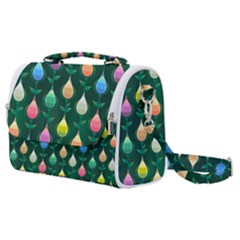 Tulips Seamless Pattern Background Satchel Shoulder Bag by HermanTelo