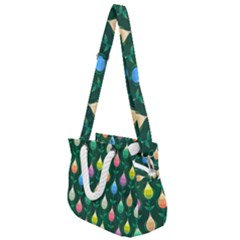 Tulips Seamless Pattern Background Rope Handles Shoulder Strap Bag by HermanTelo