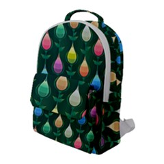 Tulips Seamless Pattern Background Flap Pocket Backpack (large) by HermanTelo