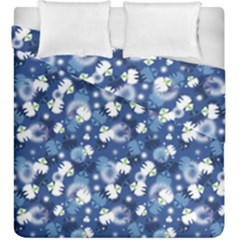 White Flowers Summer Plant Duvet Cover Double Side (king Size) by HermanTelo