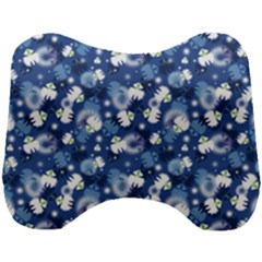 White Flowers Summer Plant Head Support Cushion