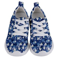 White Flowers Summer Plant Kids  Lightweight Sports Shoes