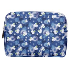 White Flowers Summer Plant Make Up Pouch (medium) by HermanTelo