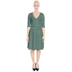 Most Overwhelming Key   Green   Wrap Up Cocktail Dress by WensdaiAmbrose