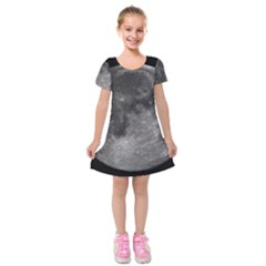 Full Moon Kids  Short Sleeve Velvet Dress by TheAmericanDream