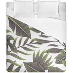 Tropical Leaves Duvet Cover (california King Size) by goljakoff