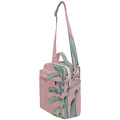 Banana Leaf On Pink Crossbody Day Bag by goljakoff