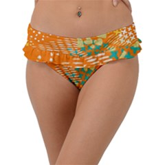 Abstract Colorful Doodle Pattern Frill Bikini Bottom by tarastyle