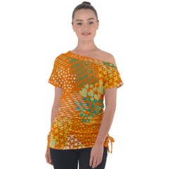 Abstract Colorful Doodle Pattern Tie Up Tee by tarastyle
