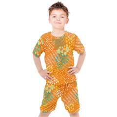 Abstract Colorful Doodle Pattern Kids  Tee And Shorts Set by tarastyle