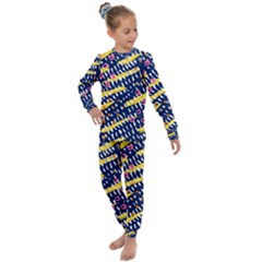 Abstract Colorful Doodle Pattern Kids  Long Sleeve Set  by tarastyle