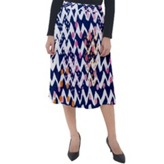 Abstract Colorful Doodle Pattern Classic Velour Midi Skirt  by tarastyle